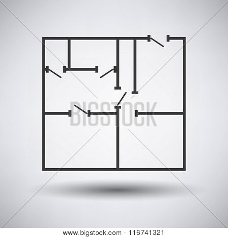 Flat Plan  Icon