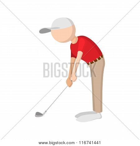 Golfer cartoon icon