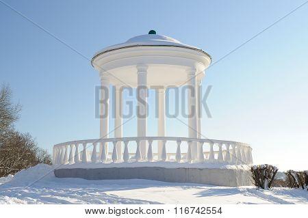 White Rotunda In Orel In Snowy Winter