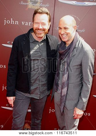 Bryan Cranston and John Varvatos at the John Varvatos 9th Annual Stuart House Benefit Presented By Chrysler And Hasbro held at the John Varvatos Boutique, California, United States on March 11, 2012.