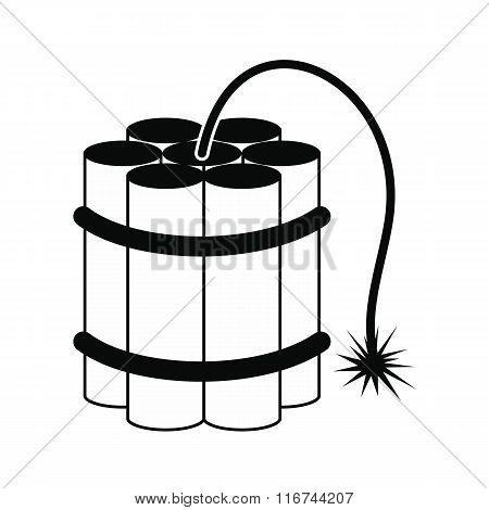 Dynamite sticks black icon