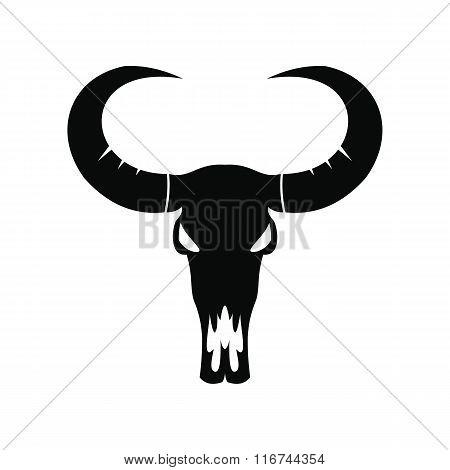Buffalo skull black icon