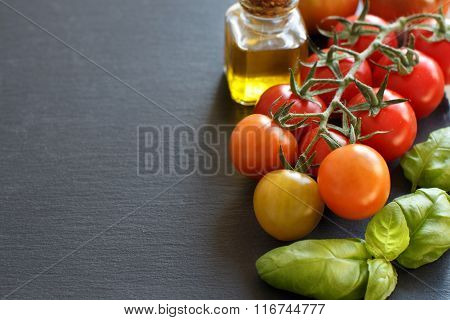 Cherry Tomatoes, Basil And Olive Oil O