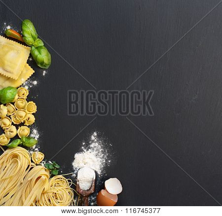 Fresh Pasta And Ingredients
