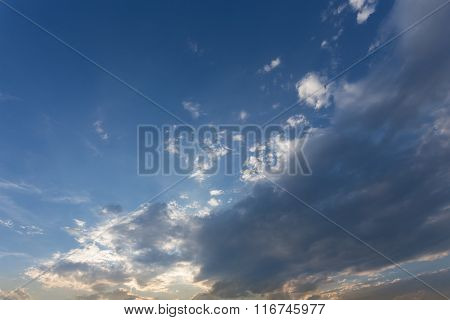 Blue Sky With Cloud, Beautiful Sky Have A Nice Day