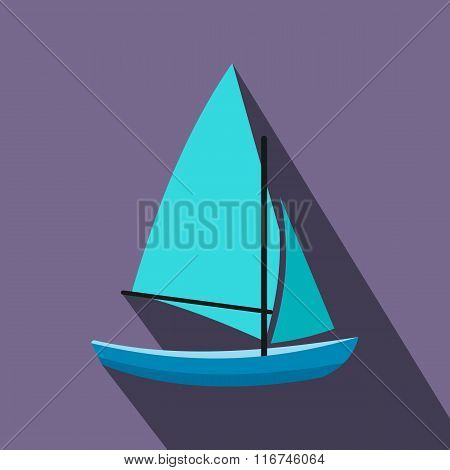 Ship yachts flat icon