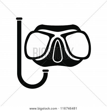Diving mask black icon