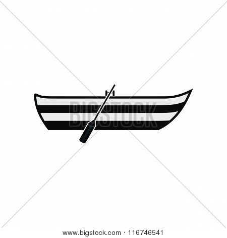 Boat with paddles icon