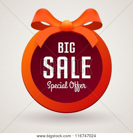 Big Sale Banner On White Background, Illustration For Business