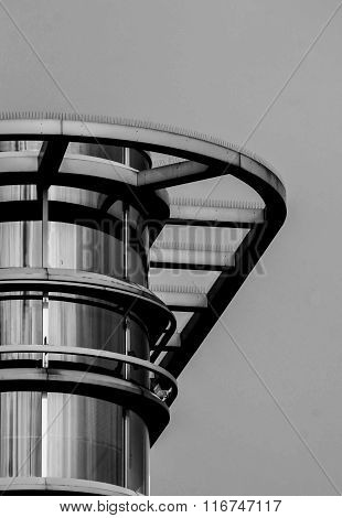 Architecture detail of a modern building in black and white