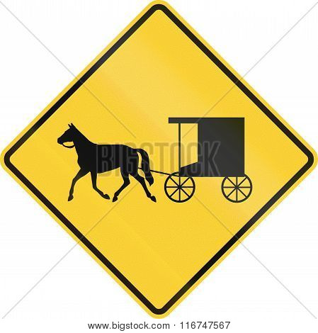 United States Mutcd Warning Road Sign - Horse-drawn Carriage Crossing
