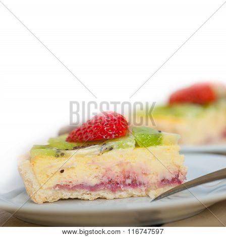 Kiwi And Strawberry Pie Tart