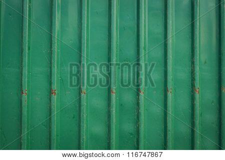 Steel Metallic Old Rusty Door, Green Grunge Metal Background