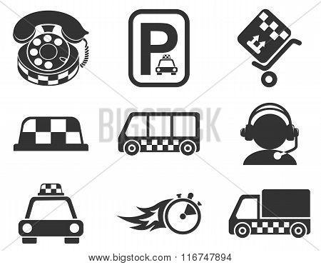 taxi services icon set