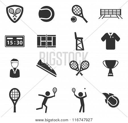 Tennis simply icons