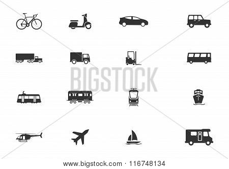 Transportation simply icons