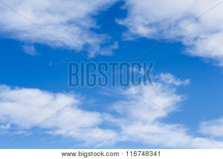 Background With Blue Skies And High Cirrus Clouds