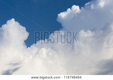 Cloud On Clear Blue Sky