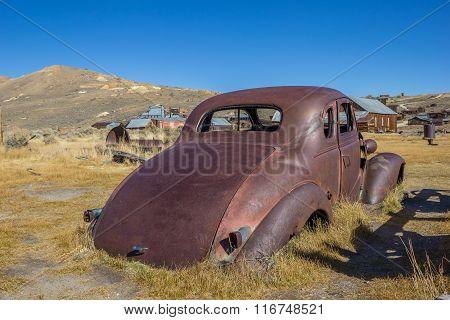 Rusty Car Wreck In Bodie