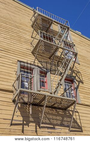 Fire Stairs In Historic Truckee
