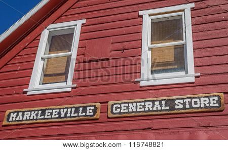 Facade Of The General Store In Markleeville, California