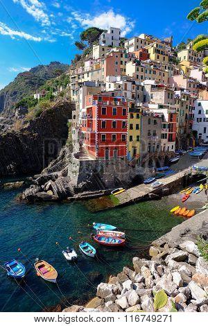 Riomaggiore Village , Cinque Terre , Italy