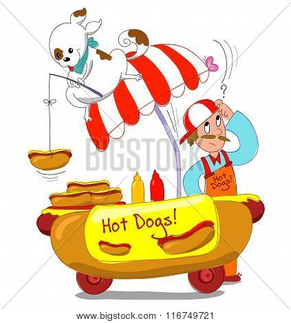 Hotdogs vector illustration