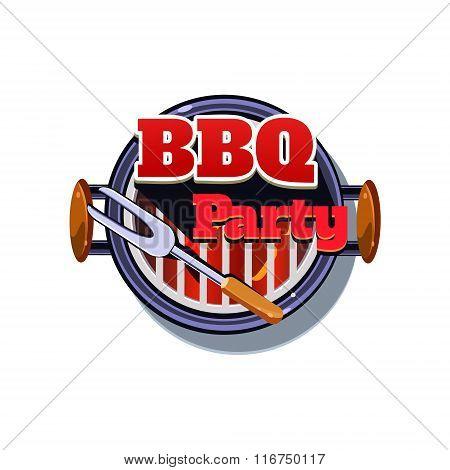 BBQ Sticker. Vector Illustration