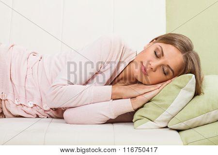 Woman napping