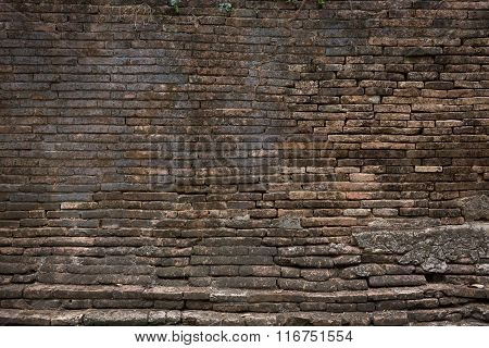 Grunge Old Brick Wall Weathered Texture Background