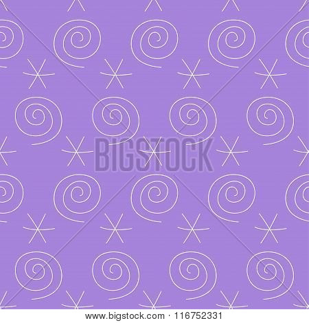 Handmade Doodle Seamless Simple Pattern Background For Use In Design