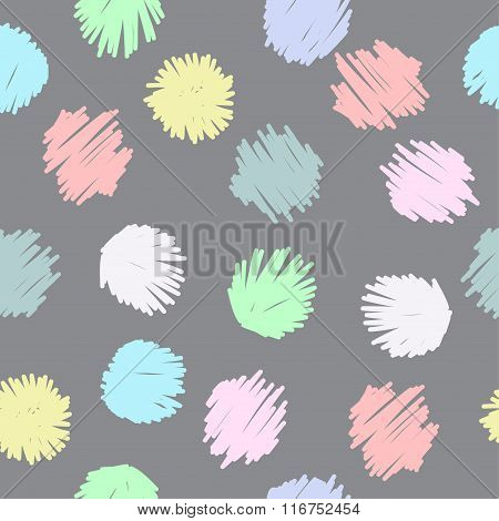Doodle Seamless Pattern Background. Hand Drawn Simple Graphic Isolated Elements