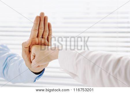 Aggressive gesture