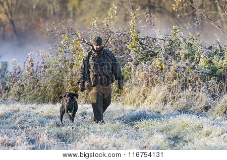 A Hunter and his dog