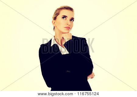 Businesswoman thinking about some idea