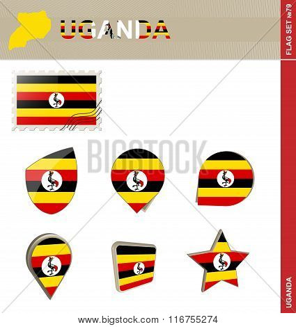 Uganda Flag Set, Flag Set #79