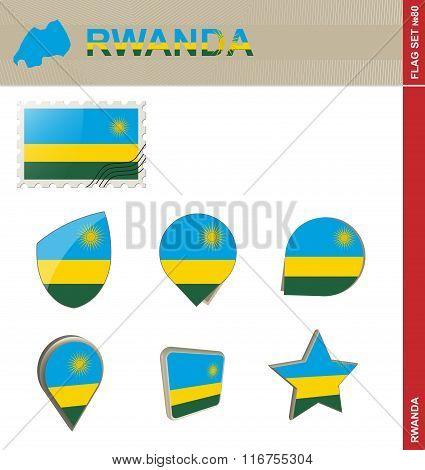 Rwanda Flag Set, Flag Set #80
