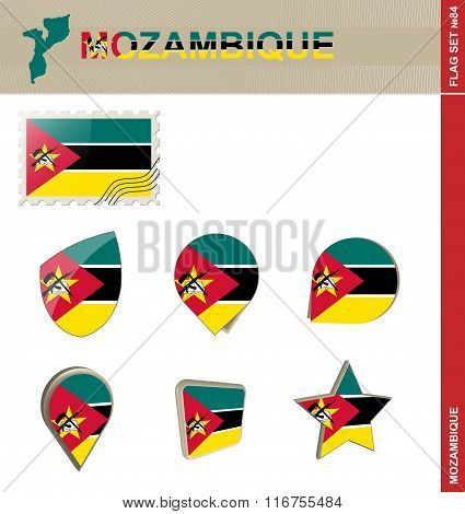 Mozambique Flag Set, Flag Set #84