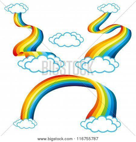 Set of rainbow