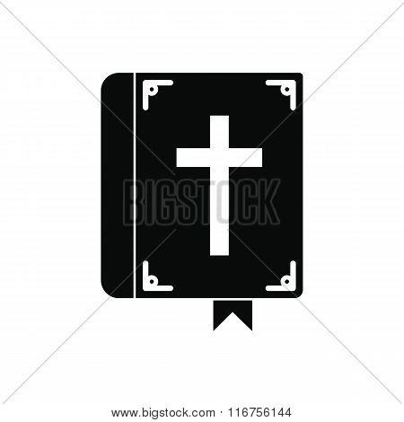 Bible single black icon