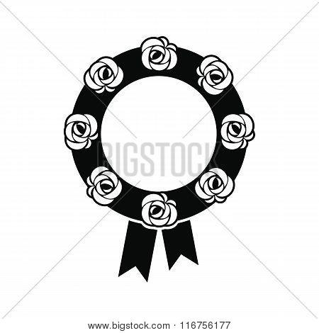 Funeral wreath black icon