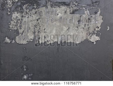 Cement Mortar Wall Texture With Black Paint Grunge Background