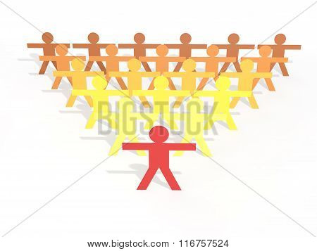 3d men leadership concept