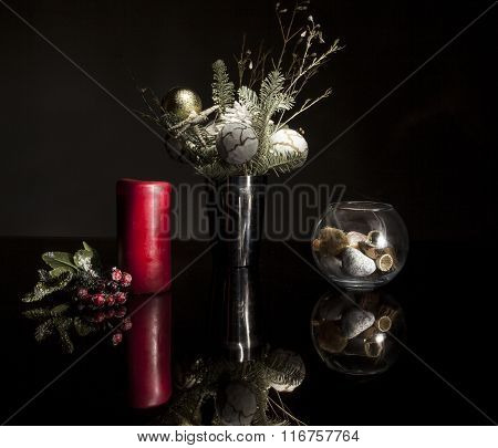 Red Candle. Still life.
