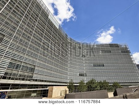 Detail Of The Berlaymont Building In Brussels