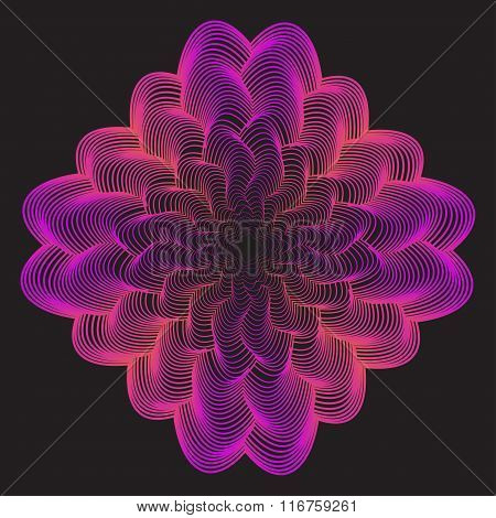 Abstract Geometric Gradient Colored Waves