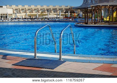 Sharm El Sheikh, Egypt, March 7 2013: swimming pool at the hotel Concorde El Salam Hotel Sharm El Sh
