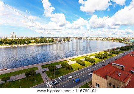 Urban Landscape Of Neva River And Saint-petersburg