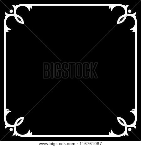 Silent Movie Black Frame with White Border. Vector
