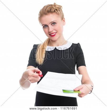 Bank employee offers you sign a contract